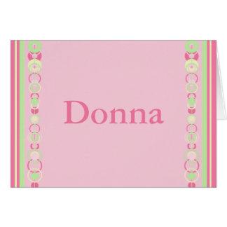 Donna Modern Circles Name Card - 369