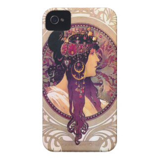 Donna Orechini by Alphonse Mucha Case-Mate iPhone 4 Case