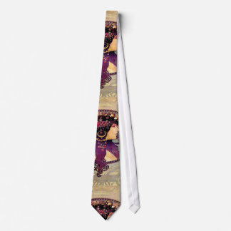 Donna Orechini by Alphonse Mucha Neck Tie