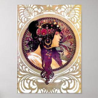 Donna Orechini by Alphonse Mucha Poster