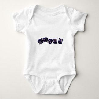 Donna toy blocks in blue baby bodysuit