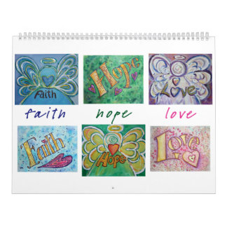 DonnaBellas Angels Word Art Calendar