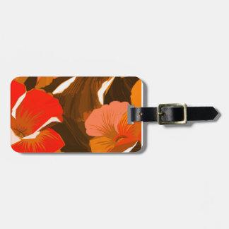Donna's Autumn Woodcut Travel Bag Tags