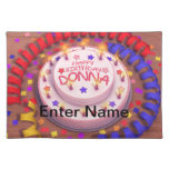 Donna's Birthday Cake Placemat