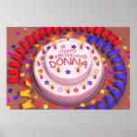 Donna's Birthday Cake Print