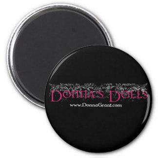 Donna's Dolls 2 Inch Round Magnet