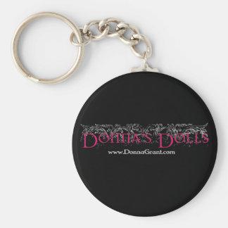 Donna's Dolls Basic Round Button Keychain