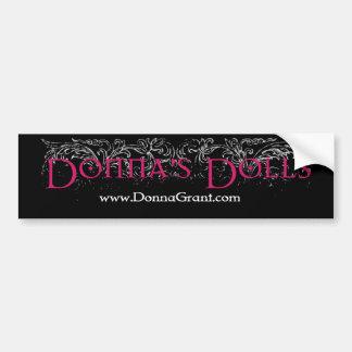 Donna's Dolls Car Bumper Sticker
