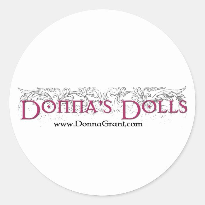 Donna's Dolls Classic Round Sticker