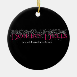 Donna's Dolls Double-Sided Ceramic Round Christmas Ornament