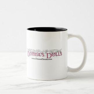 Donna's Dolls Two-Tone Coffee Mug