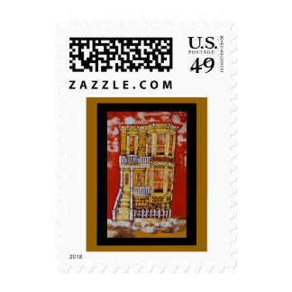 Donna's Yellow Victorian U.S. Postage Stamp