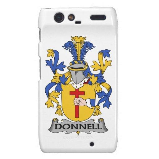 Donnell Family Crest Motorola Droid RAZR Cases