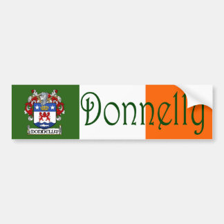 Donnelly Coat of Arms Flag Bumper Sticker