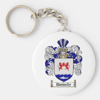 DONNELLY FAMILY CREST -  DONNELLY COAT OF ARMS BASIC ROUND BUTTON KEYCHAIN