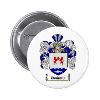 DONNELLY FAMILY CREST -  DONNELLY COAT OF ARMS 2 INCH ROUND BUTTON