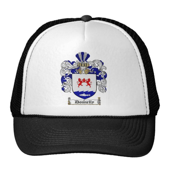 DONNELLY FAMILY CREST -  DONNELLY COAT OF ARMS TRUCKER HAT