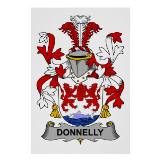 Donnelly Family Crest Poster
