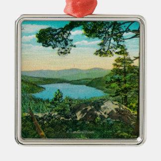 Donner Lake, California from Ridge Metal Ornament
