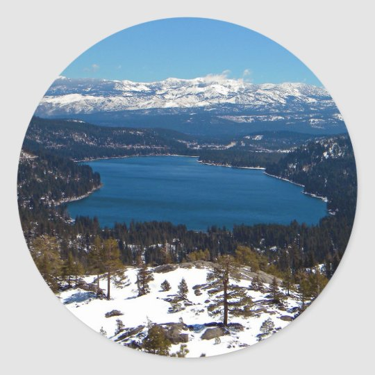 Donner Lake High Sierras Classic Round Sticker