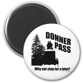 Donner Pass 2 Inch Round Magnet