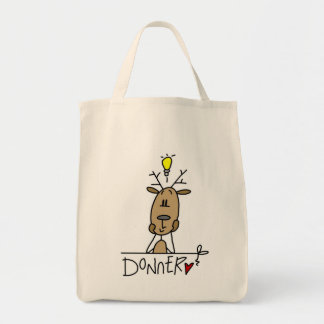 Donner Reindeer Christmas T-shirts and Gifts Tote Bags
