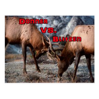 Donner vs. Blitzen Postcard