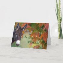 Donnie Donkey hee-haw birthday- customize Card