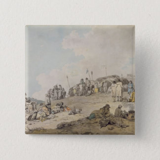 Donnybrook Fair, 1782 (pen, ink and w/c on paper) Pinback Button