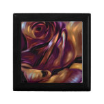 Donnybrook Rose - Abstract Floral Art Giftbox Jewelry Boxes