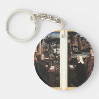Donor with St. Nicholas,his Wife by Jan Provoost Key Chains