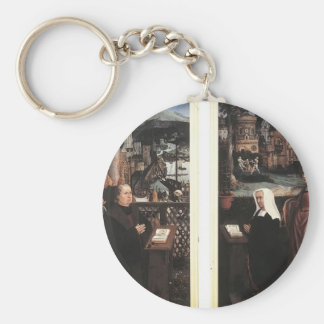 Donor with St. Nicholas,his Wife by Jan Provoost Keychain