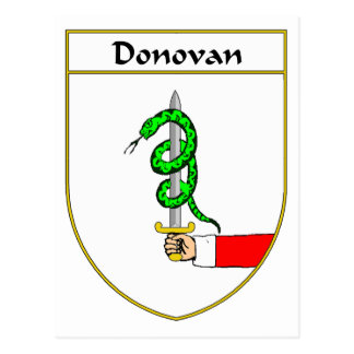 Donovan Coat of Arms/Family Crest Postcard