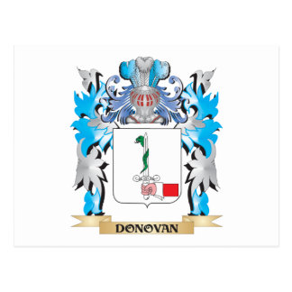 Donovan Coat of Arms - Family Crest Postcard