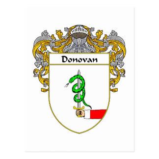 Donovan Coat of Arms (Mantled) Postcard