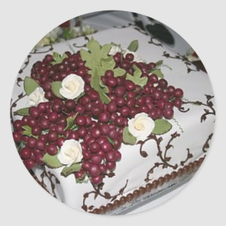 Donovan Wedding Cake Classic Round Sticker