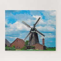 Donsbrüggen Germany Windmill. Jigsaw Puzzle