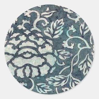 Donsu, damasco con el arabesque verde claro Uki de Pegatina