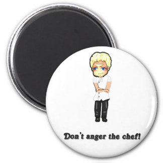 Don't Anger the Chef! 2 Inch Round Magnet