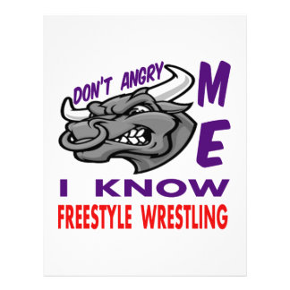 Don't angry me, i know Freestyle Wrestling. Letterhead