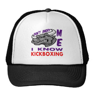 Don't angry me, i know Kickboxing. Trucker Hats