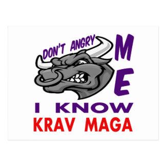 Don't angry me, i know Krav Maga. Postcard