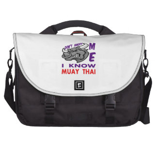Don't angry me, i know Muay Thai. Laptop Computer Bag