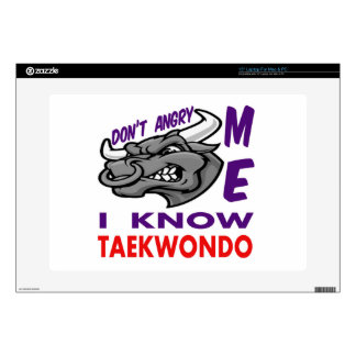 Don't angry me, i know Taekwondo. Laptop Decal