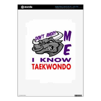 Don't angry me, i know Taekwondo. Skins For iPad 3