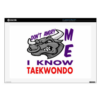 """Don't angry me, i know Taekwondo. Skin For 17"""" Laptop"""