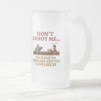 Don't Annoy Me 16 Oz Frosted Glass Beer Mug