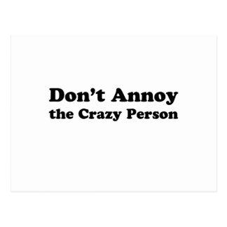 don't annoy postcard