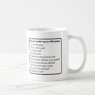 Don't ask a PhD Coffee Mug