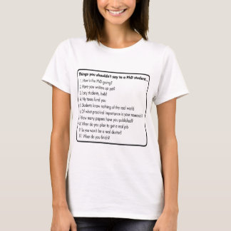 Don't ask a PhD T-Shirt